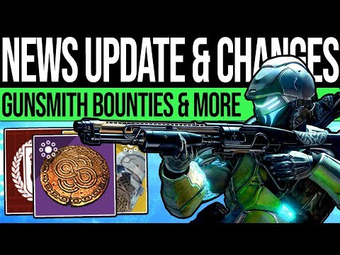Destiny 2 | GUNSMITH BOUNTIES & NEW CONSUMABLES! Iron Burden, Unique Weapon, Opulence Season & More! thumbnail