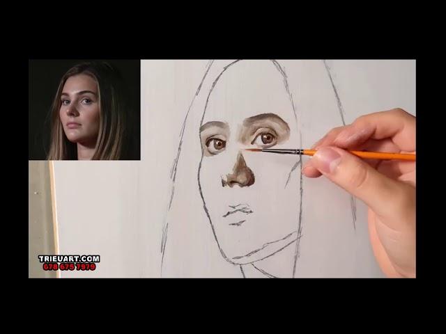 Hướng dẫn vẽ chân dung sơn dầu - trieuart.com
