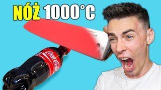NÓŻ ROZGRZANY do 1000°C vs COCA COLA
