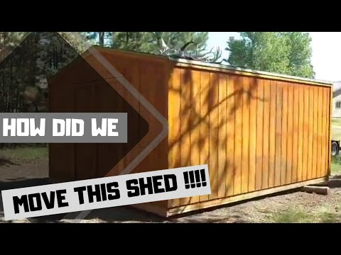 MOVE A 12x16 wood storage shed THE EASY WAY!! Don't get SQUISHED like a grape!😵