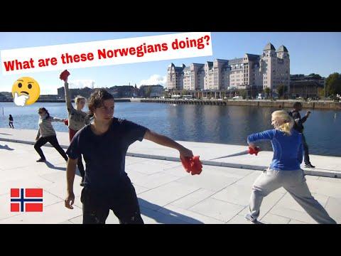 NORWEGIANS acting strange and eating Norwegian FOOD !