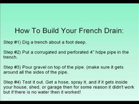 how to build a reln drain
