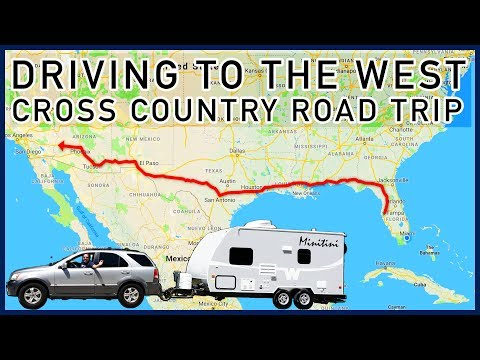 Driving to the West, The Movie: Cross Country Road Trip from Florida to California