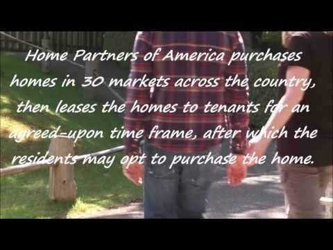 Home Partners of America ` Lease with a right to purchase.