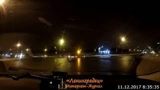 Смотреть видео ДТП пересечение ул. Солдата Корзуна и пр. Народного ополчения Санкт-Петербург 11.12.2017 онлайн