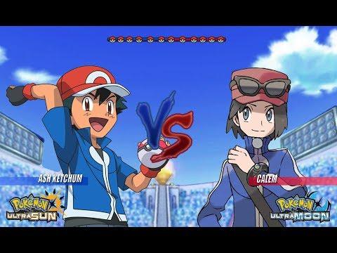 Pokemon Battle USUM: Kalos Ash Vs Calem Pokémon Main Protagonist Face Off!