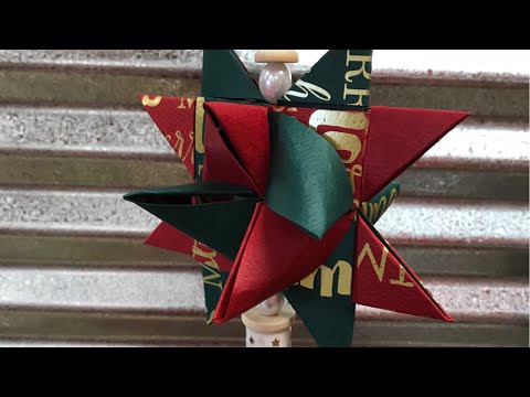 Froebel Star Ornaments with Scrapbook Paper
