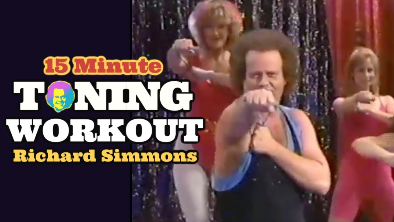 15 Minute Toning Workout with Richard Simmons from the VHS Tonin' Uptown