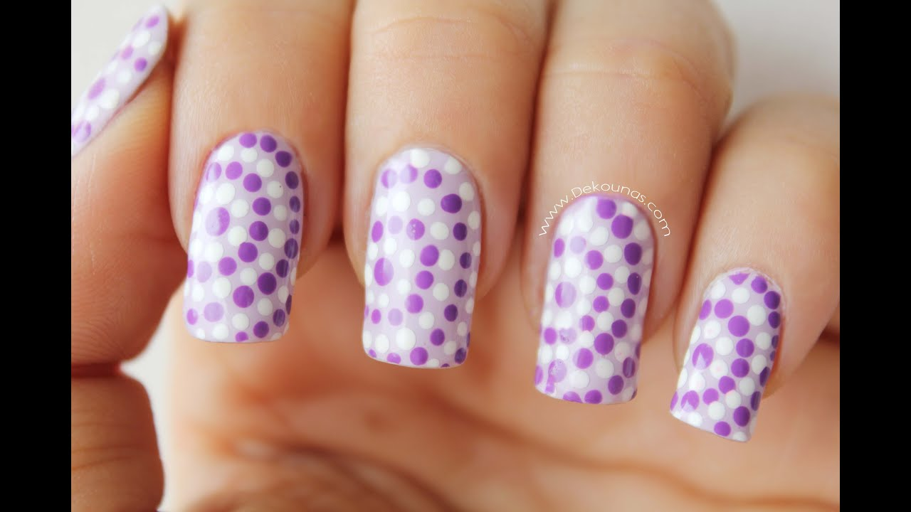 decoraci n de u as lunares easy dots nail art youtube