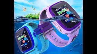 видео Детские часы с gps трекером smart baby watch gw400s водонепроницаемые