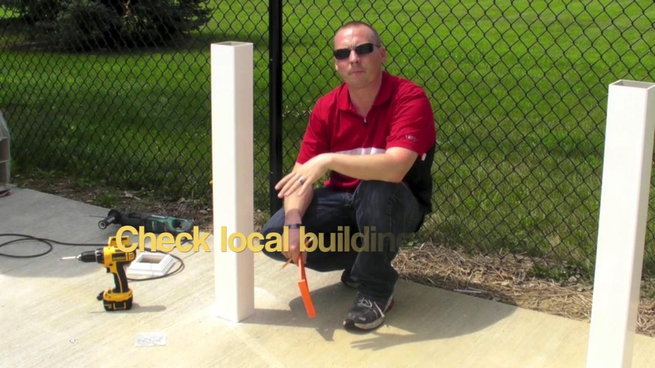 Railing Concrete Mount Installation You