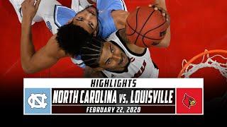 North Carolina vs. No. 11 Louisville Basketball Highlights (2019-20) | Stadium