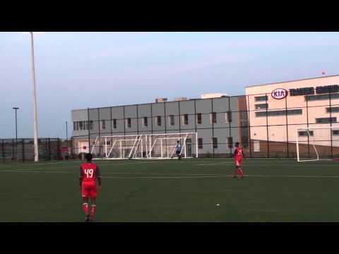Alain Sargeant #29 in Red TFC Academy U17 vs. Windsor July 6, 2012 (Part 1)
