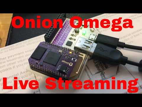 Onion Omega WiFi USB Webcam Stream