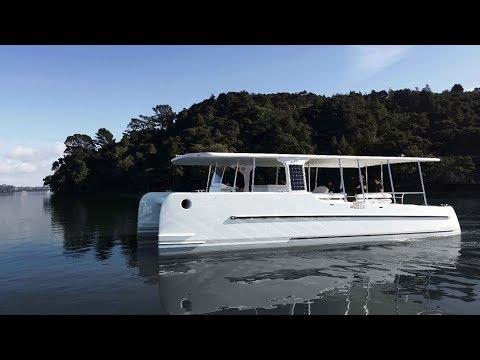 The SoelCat 12 is a Solar-powered Catamaran
