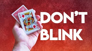 Don't Blink or YOU WILL GET FOOLED - Amazing Magic Card Trick