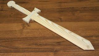 как сделать  деревянный меч !!!