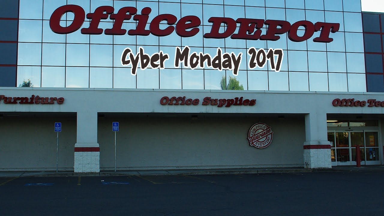 office depot officemax cyber monday 2017 deals ads sales coupons youtube. Black Bedroom Furniture Sets. Home Design Ideas