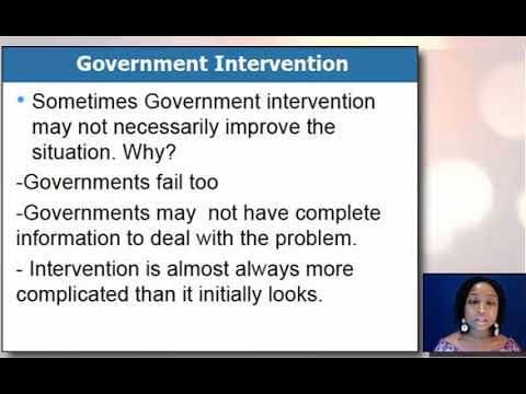 Market failures and government intervention Part 2