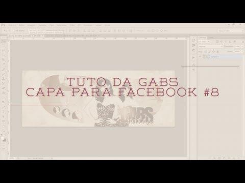 Tuto da Gabs - Capa para facebook #8