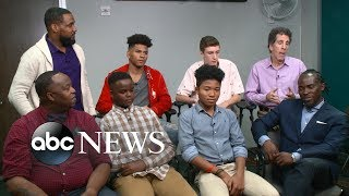 Teen boys discuss the pressures of becoming a man: