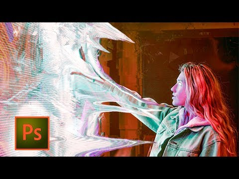 """Photoshop """"Superpowers"""" Artwork Tutorial - sci fi effect in Photoshop with Liquify tool thumbnail"""