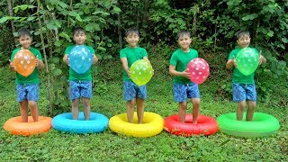 Guka pretend Play with Magic Swim Rings and Learn Colors for kids