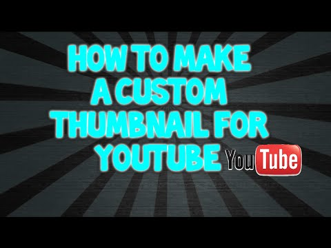 how to add your own thumbnail on youtube