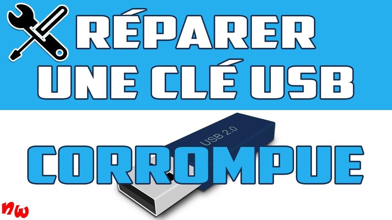 RÉPARER une clé USB & RÉCUPÉRER des fichiers corrompus !
