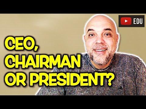 """PRESIDENT, CHAIRMAN ou CEO: como se diz """"presidente"""" em inglês? Qual é a diferença?"""