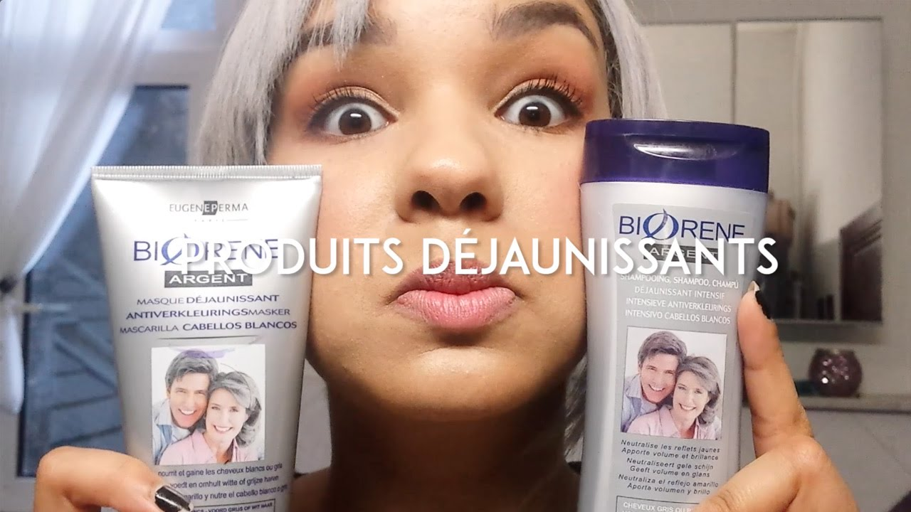 produits djaunirentretenir les cheveux blancargent products for whitesilver hair eng sub youtube - Coloration Blond Perle