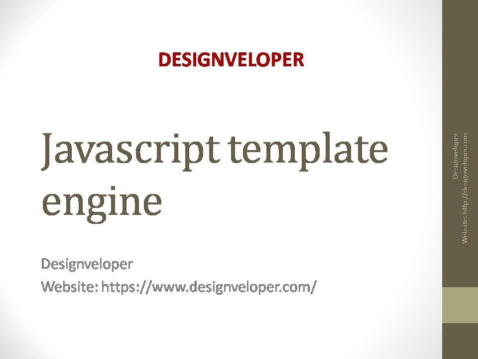 Javascript template engine youtube javascript template engine pronofoot35fo Images