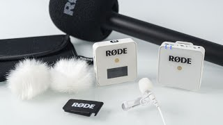RODE wireless GO white + NEW, CRAZY CLEVER accessories- review. World's smallest wireless microphone