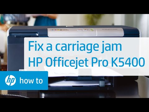 Fixing a Carriage Jam - HP Officejet Pro K5400 Printer