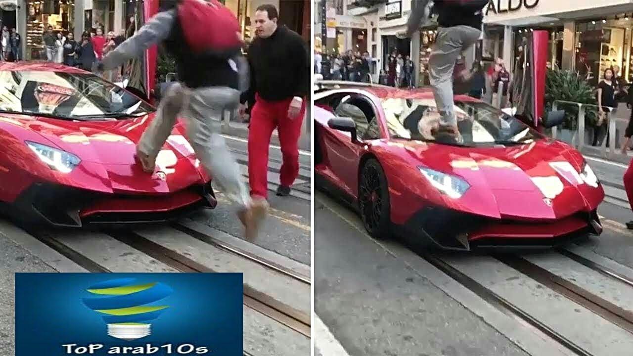 رجل دمر سيارة لامبورجيني لكن ما فعله به صاحبها كان المفاجأة الاكبر في حياته..!!