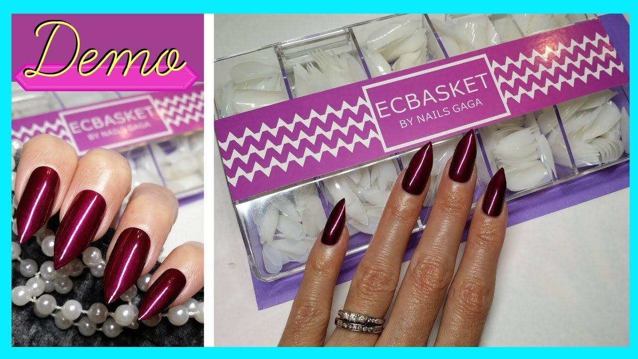 ECBASKET Stiletto Nails Acrylic Fake Pointed Nails|| LaShenny21Nails ...