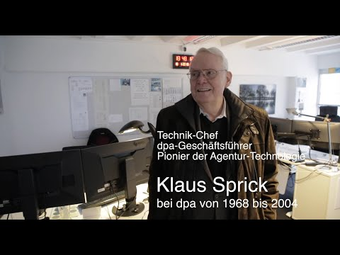 70 Jahre Deutsche Presse-Agentur - Klaus Sprick (1968 - 2004 bei dpa) | #dpa70