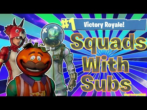 SQUADS w/SUBS! - NEW SKINS - PRO XBOX PLAYER! - Fortnite Battle Royale