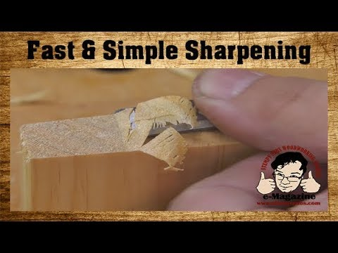 Are your woodworking tools TOO SHARP? (How to use just one stone)