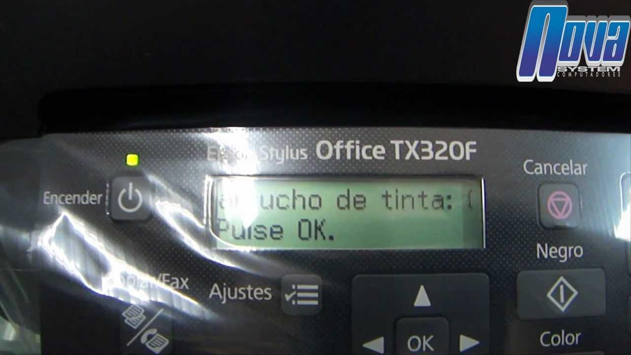 Pasos Para El Reseteo Del Chip Epson Tx300f 320f 525fw