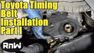 How to Remove and Replace the Timing Belt on a Toyota Camry - Part I
