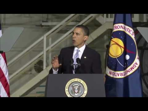 """President Obama Pledges Total Commitment to NASA"""