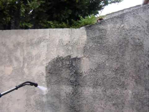 nettoyage haute pression fa ades terrasses et murets youtube
