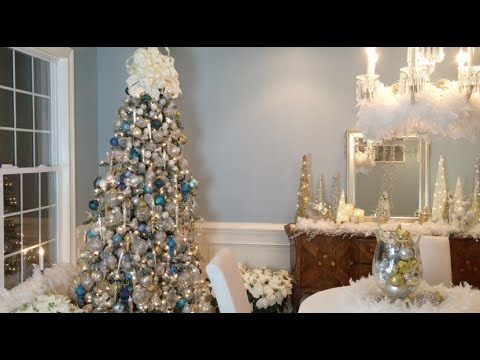 how to create a beautiful winter wonderland christmas tree with lisa robertson full length youtube