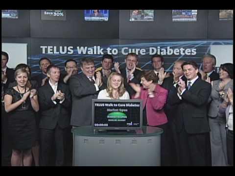 TELUS Walk to Cure Diabetes opens Toronto Stock Exchange, June 8, 2010.