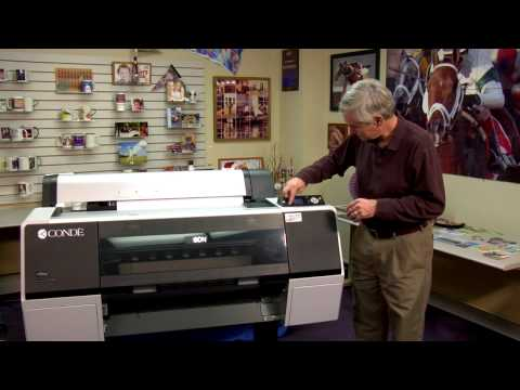Introducing The Epson Stylus Pro 7900 Dyetrans Dual Sublim Cmyklk Inkset System Youtube