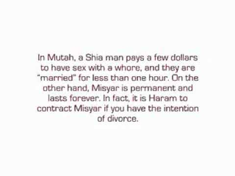 Misyar is not Temporay  Marriage & temporary marriage ( Mutah )in islam is Not Allowed