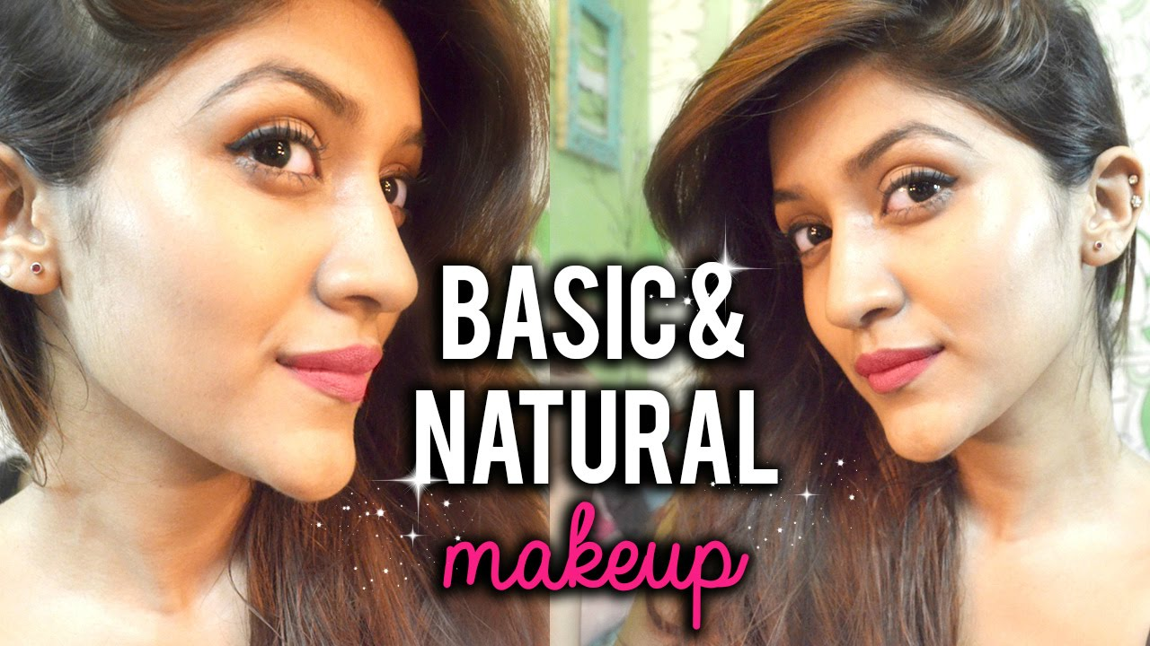Basic Makeup for Indian skin tone : Makeup for beginners with tricks and tips - YouTube