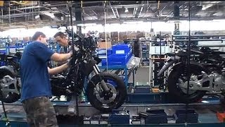 Yamaha, visite d'usine de saint-quentin Aisne. Yamaha relocalise sa production moto en France