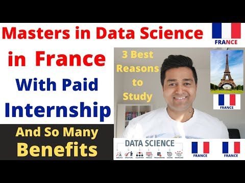 FRANCE : Masters in Data Science with Paid Internship ! Low Tuition Fees ! Study in France ! Visa